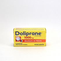 Doliprane Paracetamol 1,000 mg Effervescent Tablets – pain and fever relief – Pack of 8