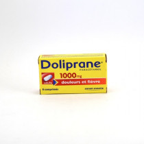Doliprane Paracetamol 1,000 mg Tablets – pain and fever relief – Pack of 8