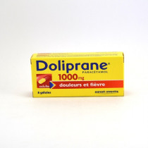 Doliprane Paracetamol 1,000 mg Capsules – pain and fever relief – Pack of 8