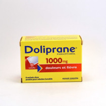 Doliprane Paracetamol (1,000 mg) Single-Dose Sachets – pain and fever relief – Pack of 8