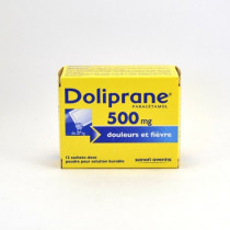 Doliprane Paracetamol 500 mg Single-Dose Sachets – pain and fever relief – Pack of 12