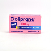 Doliprane Paracetamol 100 mg Baby Suppositories (3-8 kg) – Pack of 10