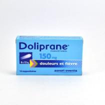 Doliprane Paracetamol 150 mg Baby Suppositories (8-12 kg) – Pack of 10