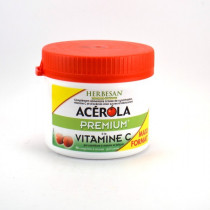 Acerola Premium Vitamin C 500, Herbesan, 90 chewable tablets, Cherry Flavour