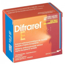 Difrarel E – Bilberry Extract and Vitamin E – Pack of 60 Tablets