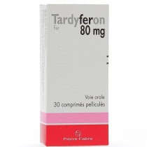 Tardyferon 80mg, Iron, 30...