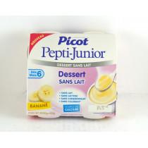 Cream Dessert Milk Free Banana Flavor - Pepti-Junior Picot - 4 X 100 G , as From 6 Months