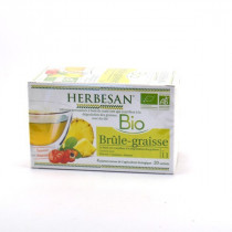 HerbesanOrganic Fat Burn, Infusions, Pineapple flavor, 20 sachets doses, herbal tea herbal n°11