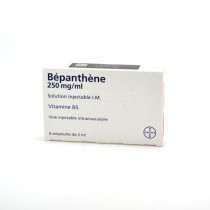 Bepanthene 500mg, Dexpanthenol, 6 Ampoules de 2ml, Solution Injectable