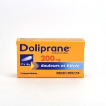 Doliprane Paracetamol 200 mg Child Suppositories (12-16 kg) – Pack of 10