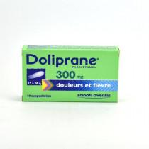 Doliprane Paracetamol 300 mg Child Suppositories (15-24 kg) – Pack of 10