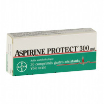 Aspirin Protect 300 mg, tablet Gastro-Resistant Acetylsalicylic Acid - Box Of 30