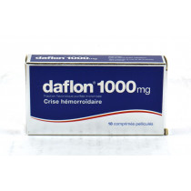 Daflon 1000 mg, Purified Flavonoid Fraction, Venous Circulation & Hemorrhoidal Crisis, 18 Tablets