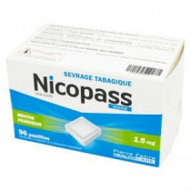 Nicopass fresh mint 1,5mg,...