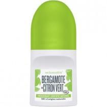 Roll on deodorant certified natural, bergamot + lime, 50ml