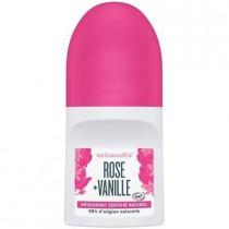 Roll on deodorant certified natural, rose + vanilla, 50ml