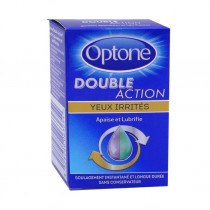 Optone double action, irritated eyes, soothes and lubricates, 10ml