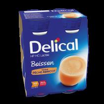 Delical classic peach apricot flavoured milk drink, 4 x 200ml
