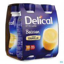 Délical classic vanilla milk drink, 4 x 200ml