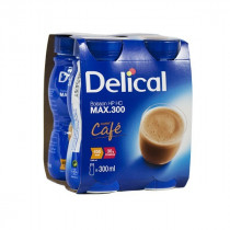 Delical classic max milk drink, with coffee, 4 x 300ml