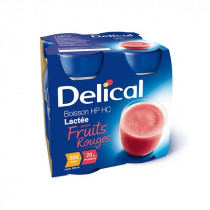 Delical classic max milk drink, with red fruits, 4 x 300ml