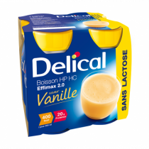 Delical effimax drink without lactose, vanilla, 4 x 200ml