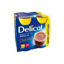 Delical lactose-free effimax drink, chocolate, 4 x 200ml