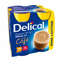 Delical lactose-free effimax drink, coffee, 4 x 200ml