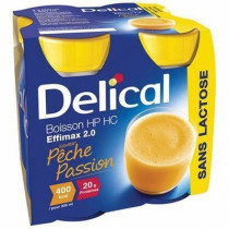 Delical effimax drink without lactose, passion peach, 4 x 200ml