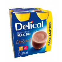 Delical drink max, lactose free, chocolate, 4 x 300ml