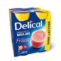 Delical drink max lactose free, strawberry, 4 x 300ml