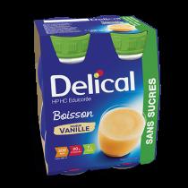 Delical sugar-free drink, vanilla, 4 x 200ml