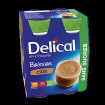Delical sugar-free drink, coffee, 4 x 200ml
