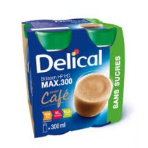 Delical drink without sugar, coffee, 4 x 300ml