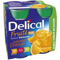 Delical fruity drink orange flavor sweetened without sugar