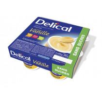 Delical sugar-free dessert cream, vanilla, 4 x 200g