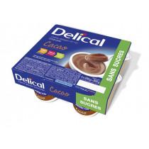 Delical dessert cream without sugar, cocoa, 4 x 200g