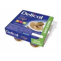 Delical sugar-free dessert cream, coffee, 4 x 200g