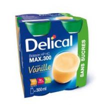Delical sugar-free drink, vanilla, 4 x 300ml