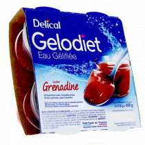 Delical, jelly water, sweet grenadine, 4 x 120g