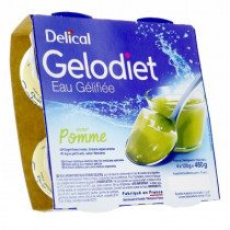 Delical, jelly water, sweet green apple, 4 x 120g