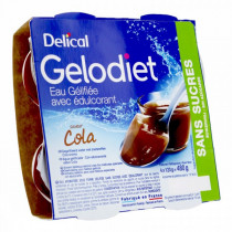 Delical, gelled water, sweetened cola, 4 x 120g