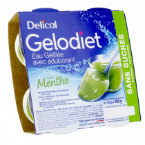 Delical,  gelled water, mint sweetened, 4 x 120g