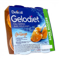 Delical jelly water, orange sweetened, 4 x 120g