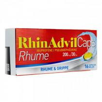 RhinAdvil Caps - Cold - Ibuprofen / Pseudoephedrine - 200mg / 30mg - 16 Mole Capsules