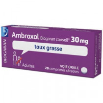 Ambroxol 30mg Boite De 20 Comprimés Encombrement des Bronches, Biogaran Conseil