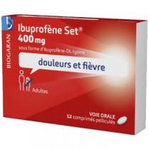 Ibuprofène Set 400 mg - Adultes et enfants de plus de 20 kg - 12 comprimés