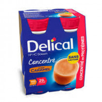 Delical Caramel Concentrated Milk Drink Lactose Free 4 x 200ml