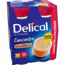 Délical Peach-Apricot Concentrated Lactose Free 4 x 200ml