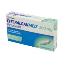 EfferalganMed 300 mg - Paracetamol - Child 15 to 24 kg - 10 suppositories